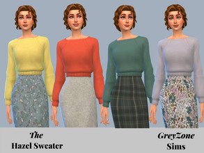 Sims 4 — Hazel Sweater - REQUIRES TINY LIVING by greyzonesims — The Hazel Sweater features twenty-two swatches of various