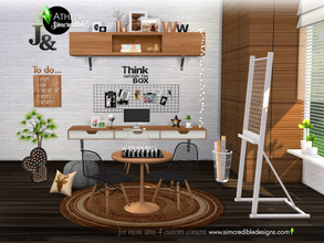 Sims 4 — Athena by SIMcredible! — Bringing for your sims a nice place to study. The Athena set features easel, bookcases,