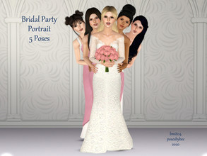 Sims 3 — Bridal Party Portrait by jessesue2 — Bridal Party Portrait has five poses with the bride as center and four