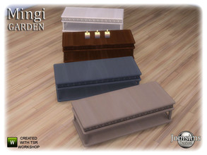 Sims 4 — Mingi garden  coffee table by jomsims — Mingi garden coffee table