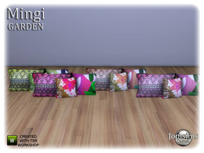 Sims 4 — Mingi garden  deco cushion for sofa by jomsims — Mingi garden deco cushion for sofa