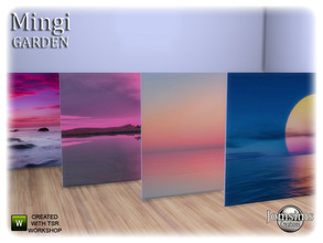 Sims 4 — Mingi garden big sunset painting by jomsims — Mingi garden big sunset painting