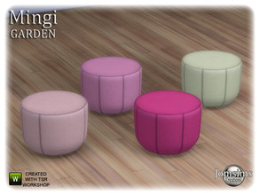 Sims 4 — Mingi garden puff more small by jomsims — Mingi garden puff more small