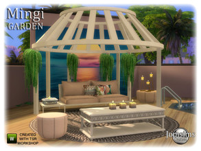 Sims 4 — Mingi Garden by jomsims — Mingi Garden for your Sims 4 A garden set with a summer scent Sofa.cushions deco for