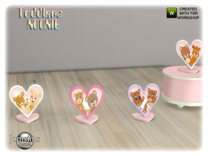 Sims 4 — Noonie toddlers bedroom heart table frame by jomsims — Noonie toddlers bedroom heart table frame