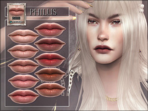 Sims 4 — Philus Lipstick by RemusSirion — Philus Lipstick HQ mod compatible: preview pictures were taken with HQ mod