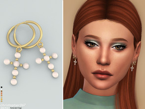 Sims 4 — Holy Earrings / Christopher067 by christopher0672 — These are a pair of pearl encrusted cross hoop earrings. 8