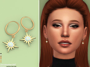 Sims 4 — Starburst Earrings / Christopher067 by christopher0672 — These are a pair opal and pearl starburst charm