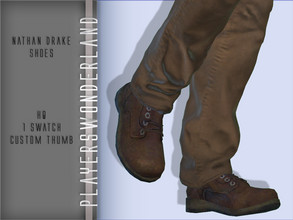 Sims 4 — Nathan Drake Shoes by PlayersWonderland — HQ Custom thumbnail 1 Swatch