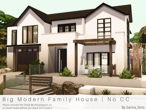 Sims 4 — Big Modern Family House - No CC by Sarina_Sims — A big and modern family house in modern farmhouse style with a