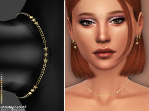 Sims 4 — Destiny Necklace / Christopher067 by christopher0672 — This is a star studded chain choker featuring 3 star