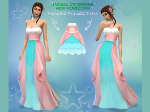 Sims 4 — Animal Crossing - Mermaid Princess Gown - Mesh needed by PrincipalCellist — Animal Crossing - Mermaid Princess