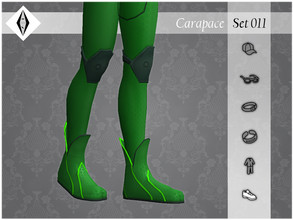 Sims 4 — Carapace - Set011 - Shoes - Boots by AleNikSimmer — THIS PACK HAS ONLY THE BOOTS. -TOU-: DON'T reupload my items