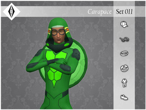 Sims 4 — Carapace - Set011 by AleNikSimmer — THIS IS THE FULL SET. -TOU-: DON'T reupload my items as yours. DON'T