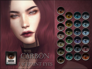 Sims 4 — Carbon Eyes by RemusSirion — Carbon Eyes HQ mod compatible: preview pictures were taken with HQ mod Facepaint