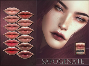 Sims 4 — Sapogenate Lipstick by RemusSirion — Sapogenate Lipstick HQ mod compatible: preview pictures were taken with HQ