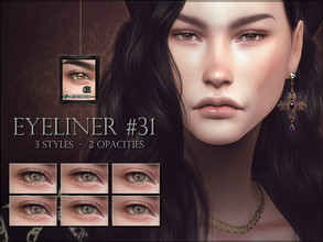 Sims 4 — Eyeliner 31 - Lashes by RemusSirion — Eyeliner 31 - Lashes HQ mod compatible: preview pictures were taken with