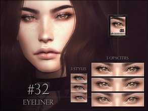 Sims 4 — Eyeliner 32 - Lashes by RemusSirion — Eyeliner 32 - Lashes HQ mod compatible: preview pictures were taken with