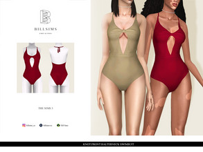 Sims 3 — Knot Front Halterneck Swimsuit by Bill_Sims — YA/AF Swimwear Available for Maternity Recolorable - 1 Channel 2