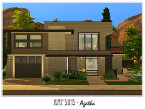 Sims 4 — Agatha by Ray_Sims — This house fully furnished and decorated, without custom content. This house has 2 bedroom