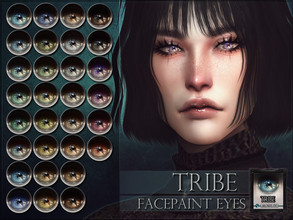 Sims 4 — Tribe Eyes by RemusSirion — Tribe Eyes HQ mod compatible: preview pictures were taken with HQ mod Facepaint