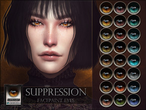Sims 4 — Suppression Eyes by RemusSirion — Suppression Eyes HQ mod compatible: preview pictures were taken with HQ mod