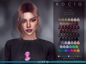 Sims 4 — Anto - Rocio Hairstyle by Anto — Hairstyle for your sims. Hope you like it!