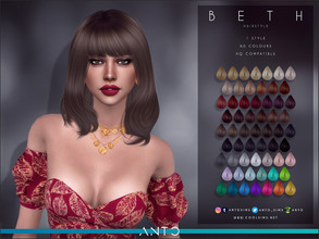Sims 4 — Anto - Beth Hairstyle by Anto — Hairstyle for your sims. Hope you like it!