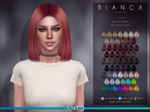 Sims 4 — Anto - Bianca Hairstyle by Anto — Hairstyle for your sims. Hope you like it!
