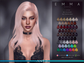 Sims 4 — Anto - Emma Hairstyle by Anto — Hairstyle for your sims. Hope you like it!