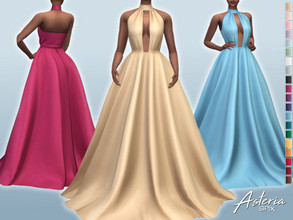 Sims 4 — Asteria Dress by Sifix2 — - New mesh - 20 swatches - Base game compatible - HQ mod compatible - Teen - Young