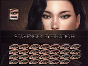 Sims 4 — Scavenger Eyeshadow by RemusSirion — Scavenger Eyeshadow HQ mod compatible: preview pictures were taken with HQ