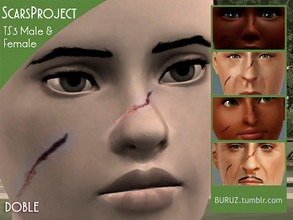 Sims 3 — Scars Project - DOBLE by Buruz — Tumblr: buruz.tumblr.com Scars Project for all genders / all ages. This is the