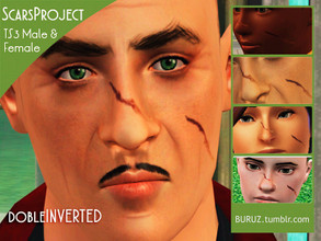 Sims 3 — Scars Project - DOBLE INVERTED by Buruz — Tumblr: buruz.tumblr.com Scars Project for all genders / all ages.