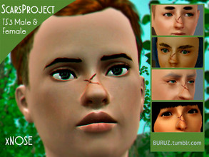 Sims 3 — Scars Project - xNOSE by Buruz — Tumblr: buruz.tumblr.com Scars Project for all genders / all ages. This is the