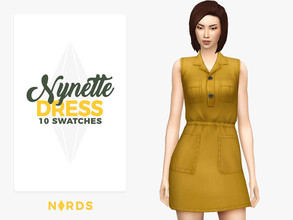 Sims 4 — Nynette Dress by Nords — Hey simmers! Here's a cute little denim dress for your sims to rock! I made it by