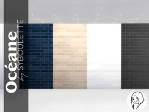 Sims 4 — Oceane - Wall tiles by Syboubou — Those glossy and simple tiles will add a highend and stylish look to any