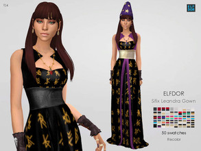 Sims 4 — Sifix Leandra Gown RC by Elfdor — Its a standalone recolor of Sifix dress and you will need the original mesh