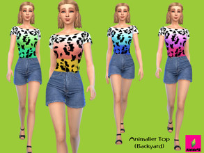 Sims 4 — Animalier Top - Backyard needed by Aleida92 — This top needs backyard stuff. Thanks all cc creators.
