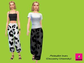 Sims 4 — Animalier Jeans - Discover University by Aleida92 — This jeans needs discovery university pack. Thanks all cc