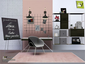 Sims 3 — Ophelia Office by ArtVitalex — - Ophelia Office - ArtVitalex@TSR, Jul 2020 - All objects are recolorable -