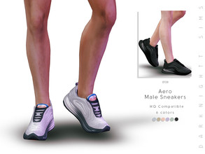 Sims 4 — Aero Male Sneakers by DarkNighTt — Aero Male Sneakers Have 6 colors. New mesh. HQ mod compatible. Hope you