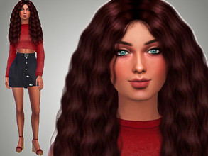 Sims 4 — April Starks by Mini_Simmer — Age: Young Adult Traits: Dog Lover, Creative, Loner. Aspiration: Painter