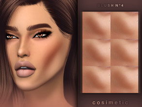 Sims 4 — Blush N4 by cosimetic — - This blush can use on all genders and from teen to elder. - Contains [6] colors in HQ