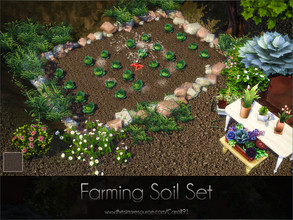 Sims 4 — Farming Soil Set  by Caroll912 — A set of a finer detail floor and larger detail terrain paint. Both creations