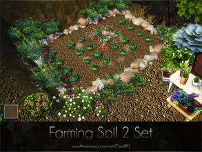 Sims 4 — Farming Soil 2 Set  by Caroll912 — A set of a finer detail floor and larger detail terrain paint. Both creations