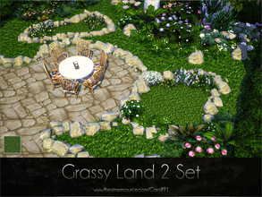 Sims 4 — Grassy Land 2 Set  by Caroll912 — A set of a finer detail floor and larger detail terrain paint. Both creations
