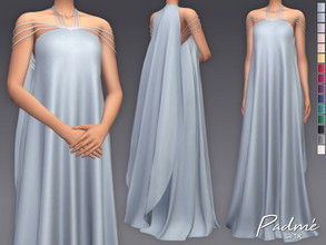 Sims 4 — Padme Dress by Sifix2 — Inspired by Star War's Padme Amidala. Slight clipping issues in certain poses. - New