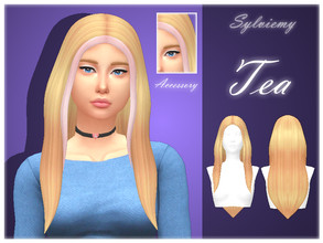 Sims 4 — Tea Hairstyle Set by Sylviemy — The set included Tea Hairstyle, Tea Hairstyle Recolors and Tea Hairstyle