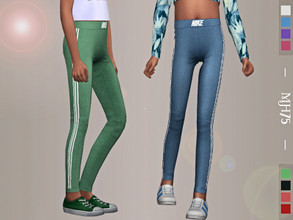 Sims 4 — S4 Nike Leggings [Child Female] by Margeh-75 — -lovely cute fitted leggings with soft material for your female